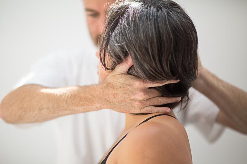 Pavilion Osteopathy - Seated neck examination