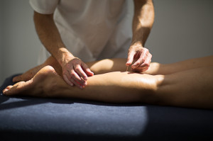 Pavilion Osteopathy, Brighton - Acupuncture to the calf